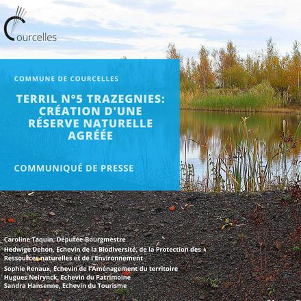 Terril n°5 à Trazegnies - Création d'une réserve naturelle